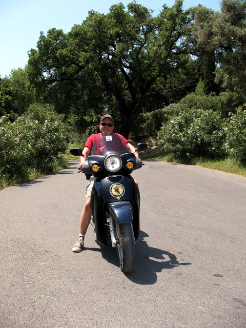 "I took a couple ""scooter"" rides while on the Island of Corfu. Fun!"