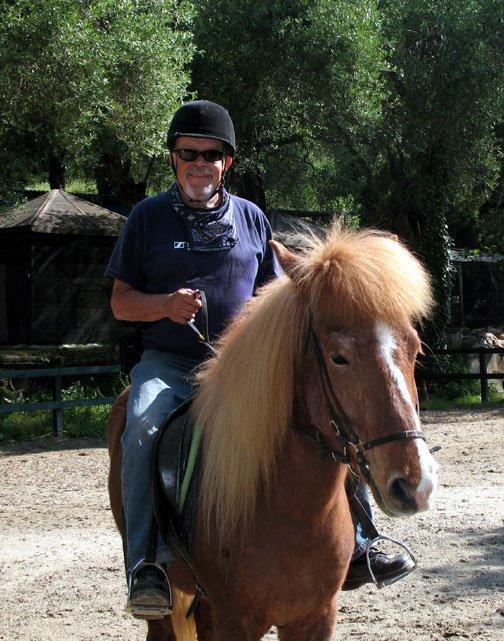 Rodi, an Islandic horse and me.